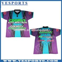 Custom design sublimation motorcycling shirt