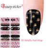 Vinyl Nail Sticker/ Metallic Dots 3D Nail Art