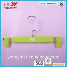 rubber coated 26cm/31cm plastic pants hanger with logo