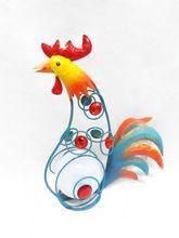 wholesale handicrafts wrought iron sculpture garden outdoor animal chicken decoration(XY13603)