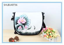 Hot Sales Woman Vintage Hand Painted Bag Woman Canvas Handbag