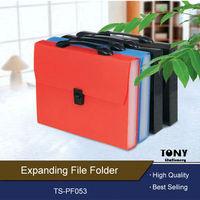 Wholesale High Quality Plastic Expandable File Folders