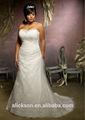 ilusão em camadas fishtail laço de tule sereia frisados fotos de casamento sexy vestidos de noite