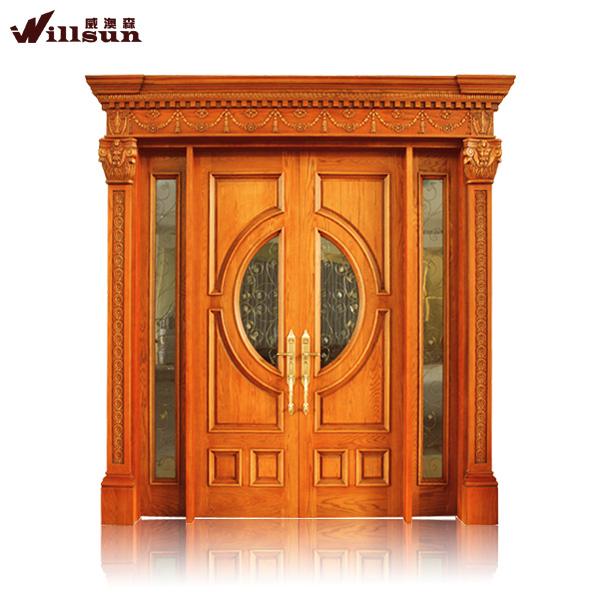 Wood exterior front doors