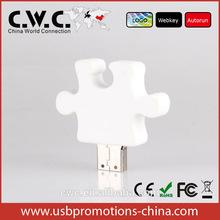 bulk cheap pendrive promotion gift puzzle shape usb pormo gift usb custom logo