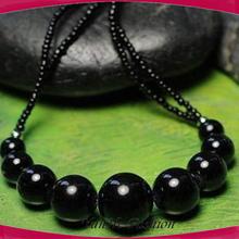 di alta qualità moda nero perline di corallo collana dei monili