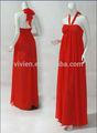 halter cor vermelha longa chiffon maxi mangas novo verão festa de casamento das senhoras formal muito linda e encantadora vestidosdedamadehonra