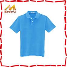 Custom blue 100% original cotton man polo t-shirt/uniform polos for middle school boys