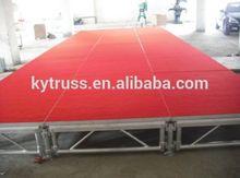 Aluminium anti-slip plywood mobile stage