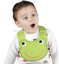 green frog cotton infant bandana bibs