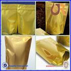 Accept Custom Order gold color resealable foil bag