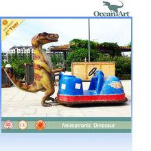 Playground toy Cartoon dinosaur car battery for kids