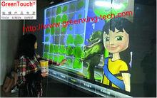 Pantalla de proyección posterior película / 70 pulgadas auto adhesivo 3D película holográfica transparente / cristal de la ventana lámina táctil