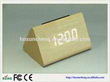home decor cheap wooden clock carpet alarm clock