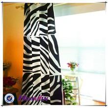 bottom price good quality inventory zebra stripes printing curtain