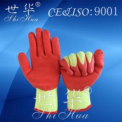 best sell product orange rubber gloves latex work gloves