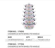 16-24cm ,0.35mm casserole set ,enamelware