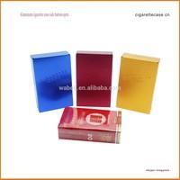 Aluminum cigarette case /box / holder by oxidation finishing coloru
