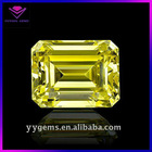 Fancy Emerald Cut Yellow Semi-precious Stones Made in China