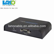 TV AV S -Video RCA Composite to VGA PC Monitor Converter Adapter Box