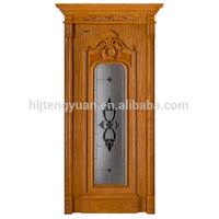 SFDK-16B Wood Carved Bedroom Door Design India