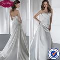 Goingwedding alta- final corpete pregueado com frisos um- a linha de tafetá de noiva vestidos 2015 hs067
