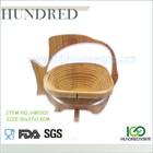 Eco-friendly folding bamboo fruit basket, cheap price and high quality bamboo fruit basket, fish shape bamboo fruit basket