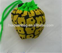 Fruit shape folding reusable bags, shopping bag foldable, cheap nylon foldable shopping bag