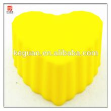 S-B049 popular nice design heart shape colorful silicone cake pop mold