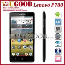 original lenovo 5 inch smartphone quad core lenovo p780 1GB RAM 8.0MP 4000mAh battery