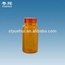 150cc pill plastic bottle,orange medicine jar,pharmaceutical container