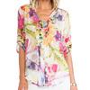 wholesale ladies blouse chiffon floral print latest blouse
