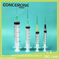 fechamento de luer e luer slip médicos descartáveis seringa 10ml