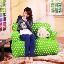 large size bean bag armchair ,green dot bean bag cover