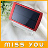 2014 portable Double usb output solar powered mobile charger