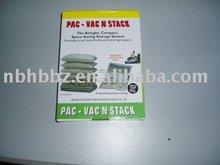 vacuum sealed storage bag with valve for clothes vacuum storage