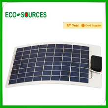 10w poly semi-flexible solar panel thin film flexible roofing solar panel