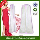 Fashion style colorful customized folding wedding dress suit cover bag