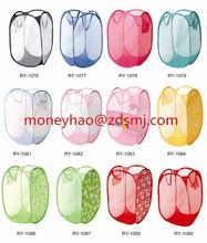 Portable Foldable Laundry Basket Bag Pop Up Mesh Hamper Wash Clothes Storage Bin