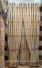 European style plain satin fabric hotel window latest curtain fashion designs