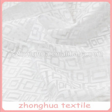 snow white design customized burnout voile fabric for curtains/decorations
