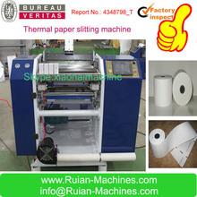 high precision jumbo thermal paper roll slitting machine