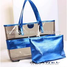 exquisite handicraft beautiful high grade pvc fashional clear PVC beach bag