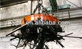 عالية الكفاءة خردة المغناطيس رفع الحفارات، معالجة المعادن الخردة بأسعار رفع المغناطيس
