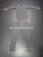 seamless 100% merino wool kid's underwear set