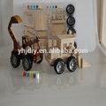 2014 nuevo producto de juegos para niños de juguetes educativos diy camiones de madera de madera de juguete para los niños