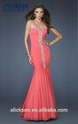 Shimmering Sweetheart Strapless Beaded Rhinestone Chiffon Mermaid Free Prom Dress