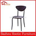 moderno de bajo precio de metal silla de comedor silla de hierro para al aire libre
