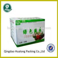 Recycled cardboard fresh vegetable packaging box