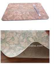 2014 New Design Custom Printing Cork Wood Placemat